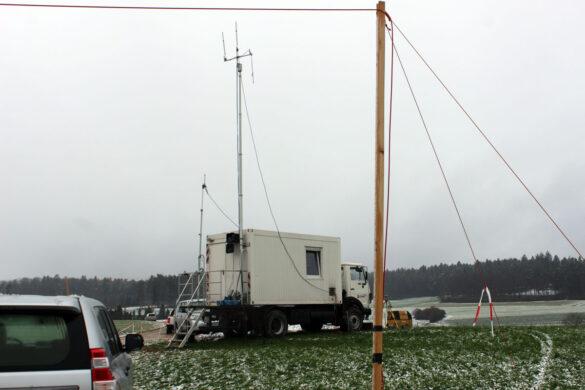 Der Winter hat am Bözberg Einzug gehalten. Die Messungen werden aber auch im Winter fortgeführt. (Foto: Nagra)